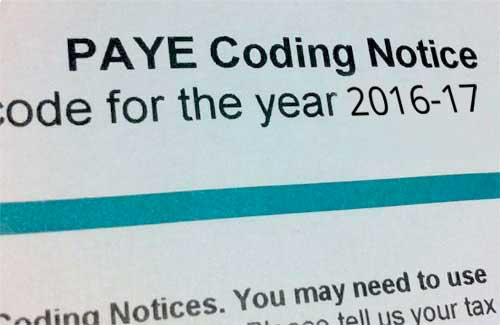 PAYE Tax Codes For The 2016/2017 Tax Year