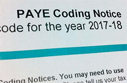 PAYE Tax Codes For The 2017/2018 Tax Year