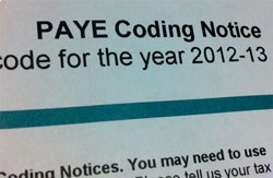 PAYE Tax Codes For The 2012/2013 Tax Year