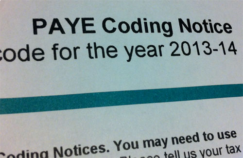 PAYE Tax Codes For The 2013/2014 Tax Year