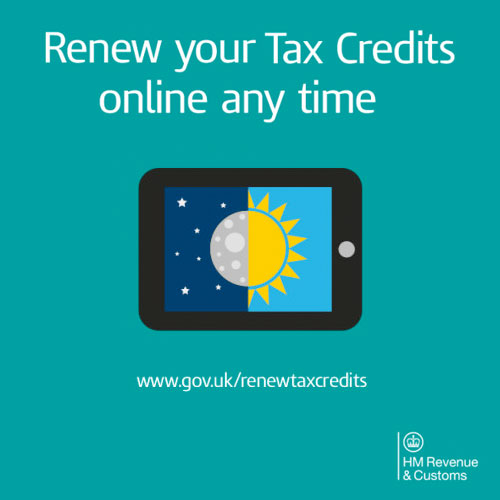 Tax Credits Renewal Reminder For 2016