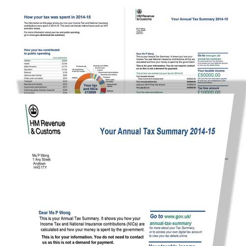 Tax Summaries for the 2014-15 Tax Year Now Arriving On Doorsteps and Online